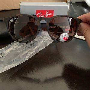 Polarized New Rayban Sunglasses Erika Brown RB4171